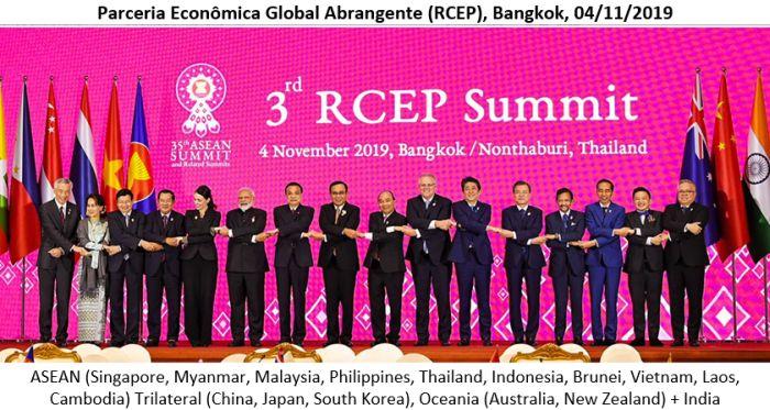 Os 10 países da ASEAN (Tailândia, Indonésia, Malásia, Filipinas, Singapura, Mianmar, Brunei, Vietnã, Laos e Camboja), mais os três países mais avançados tecnologicamente (China, Japão e Coreia do Sul), além dos dois grandes países da Oceania (Austrália e Nova Zelândia)