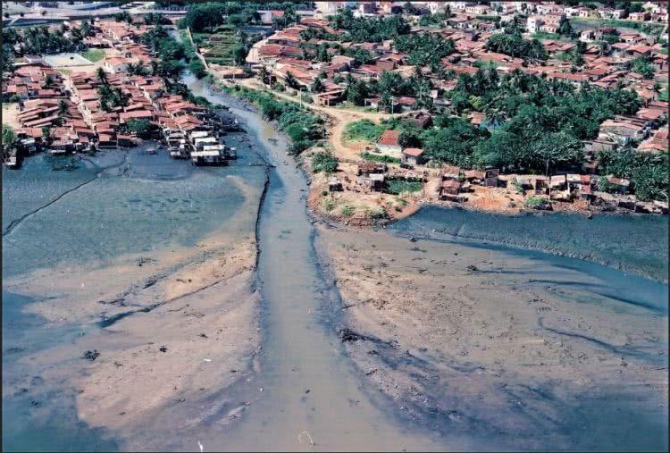 Foz do Rio do Baldo, década de 70'