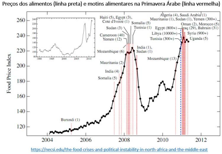 preço dos alimentos e a primavera árabe