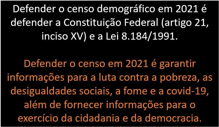 em defesa do censo demográfico 2021