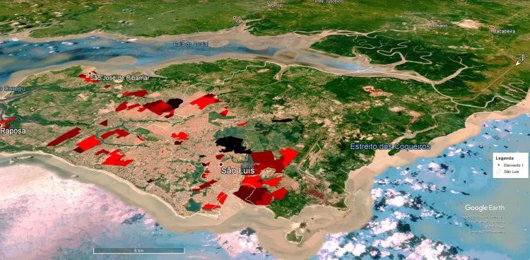 no município de são luís existem 39 áreas delimitadas como aglomerados subnormais