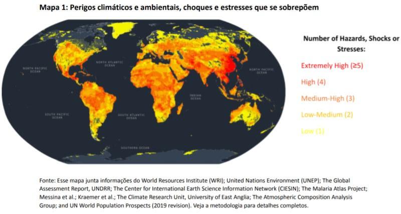 perigos climáticos e ambientais