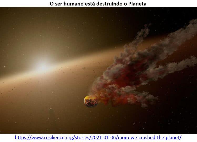 o ser humano está destruindo o planeta